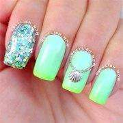 inspiring beach nail art design