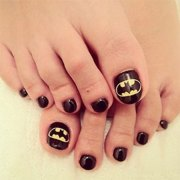amazing batman toe nail art design
