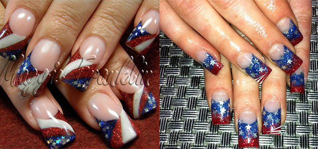 10 Amazing Fourth Of July Acrylic Nail Art Designs Ideas Stickers 2017 4th Nails Fabulous