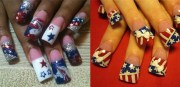 elegant fourth of july nail