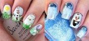 disney frozen olaf nail art