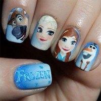 15 + Disney Frozen Themed & Inspired Nail Art Design ...