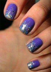 glitter gel nail art design