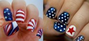 stunning fourth of july nail