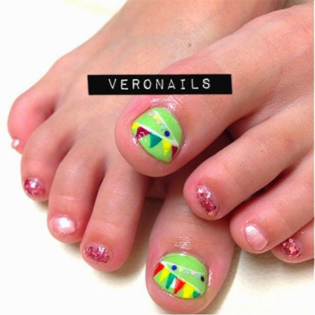 20 + Easy & Simple Toe Nail Art Designs, Ideas & Trends
