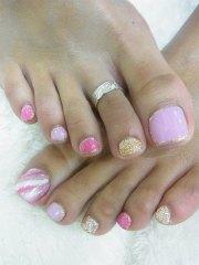 easy & simple toe nail art