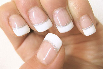 Talk About Metallic Nails This Futuristic French Tipped Looks Awesome Is It Uses A