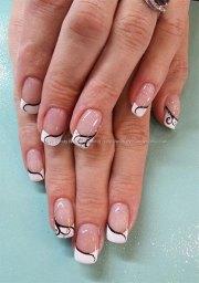 french gel nail art design