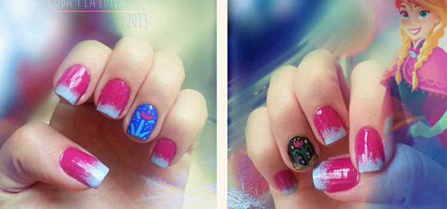 Disney Frozen Inspired Anna Nail Art Designs Ideas Stickers 2017 Nails Fabulous