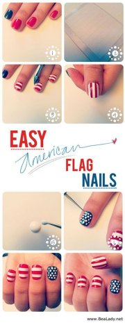 easy fourth of july nail art tutorials