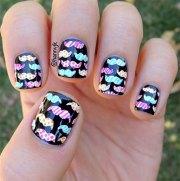 cool mustache nail art design