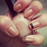 cute & easy moustache nail art