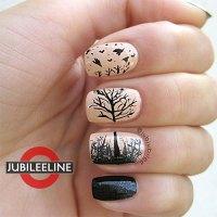 fall tree nail design 15 amazing fall autumn nail art ...