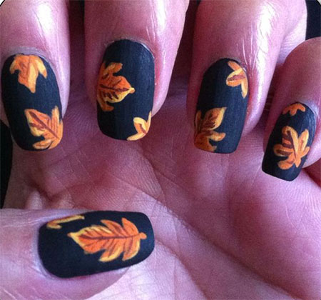 Fall Leaves Nail Art Couresty Of Christie S Nails