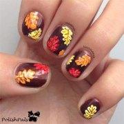 autumn leaf nail art