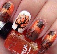 15 + Best Autumn Leaf Nail Art Designs, Ideas, Trends