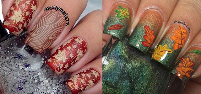 15  Best Autumn Leaf Nail Art Designs Ideas Trends  Stickers 2014  Fall Nails  Fabulous