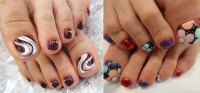 Elegant Fall / Autumn Toe Nail Art Designs, Ideas, Trends ...