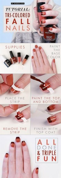Step By Step Autumn Nail Art Tutorials For Beginners ...