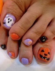 unique halloween toe nail art