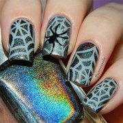 halloween acrylic nail art