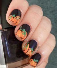 20 + Halloween Pumpkin Nail Art Designs, Ideas, Trends ...
