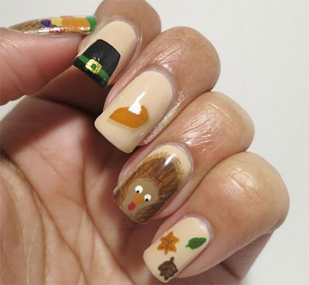 Today 12 Pumpkin Pie Nail Art
