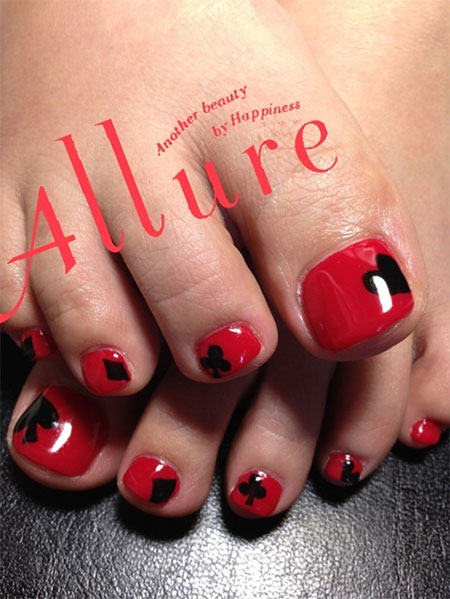 10 Red Toe Nail Art Designs Ideas Trends  Stickers 2014  Fabulous Nail Art Designs