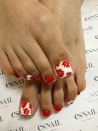 10 Red Toe Nail Art Designs, Ideas, Trends & Stickers 2014 ...