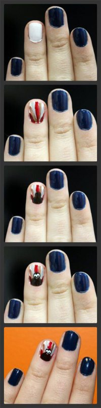 Simple Step By Step Thanksgiving Nail Art Tutorials For ...