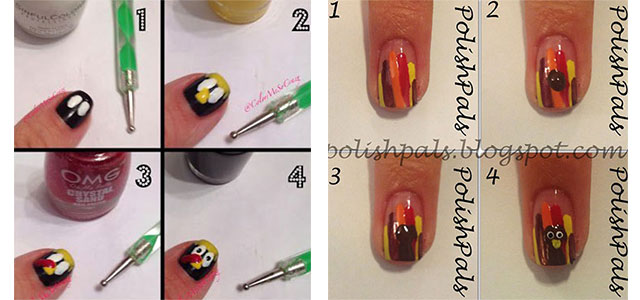 Simple Step By Thanksgiving Nail Art Tutorials For Beginners 2017 Fabulous Designs