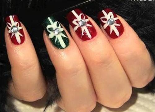 10 Christmas Acrylic Nail Art Designs Ideas Trends Stickers 2016 Xmas Nails Fabulous