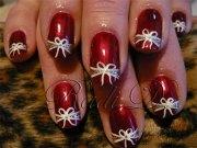 easy christmas present nail