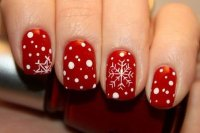 15+ Red, Green, Gold Christmas Nail Art Designs, Ideas ...
