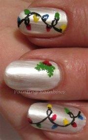 christmas lights nail art design