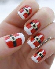 santa belt nail art design ideas