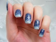 blue winter nail art design