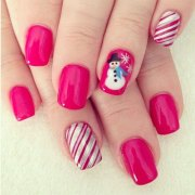 easy winter nail art design