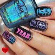 happy year eve nail art