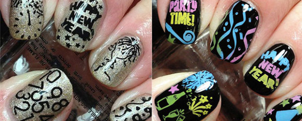 15 Happy New Year Eve Nail Art Designs Ideas Trends Stickers 2017