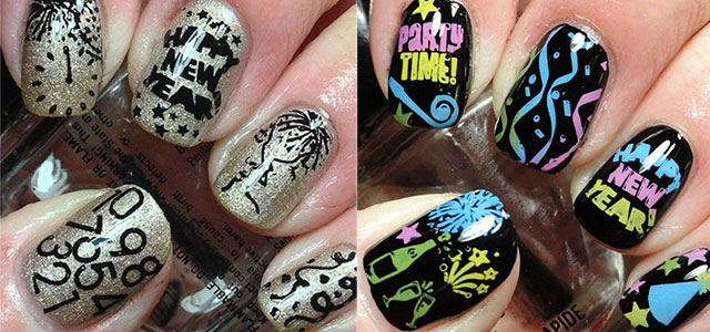 15 Happy New Year Eve Nail Art Designs