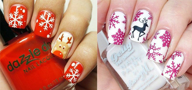 15 Pink Red Snowflake Nail Art Designs Ideas Trends Stickers 2017 Fabulous