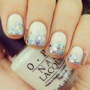 winter gel nail art design