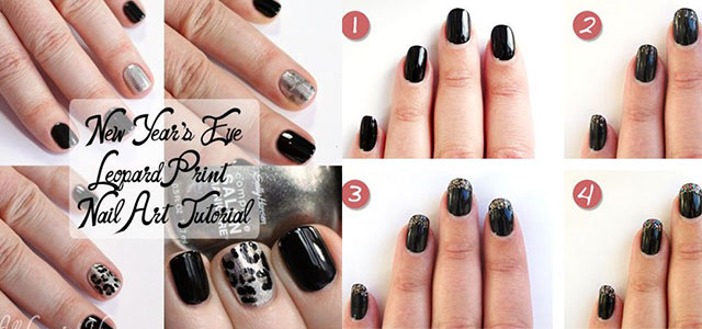 Easy Step By Happy New Year Eve 2017 Nail Art Tutorials For Beginners Learners Fabulous Designs