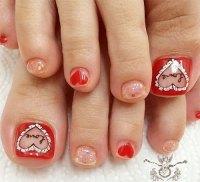 12+ Valentine's Day Toe Nail Art Designs, Ideas, Trends ...
