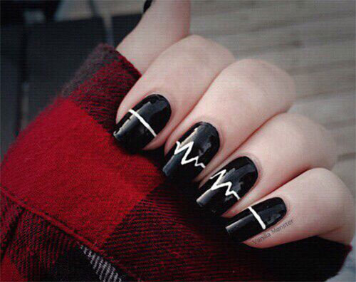 15 Valentines Day Love Heart Beat Nail Art Designs Ideas Trends  Stickers 2015  Fabulous