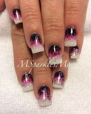 acrylic pointed nails design