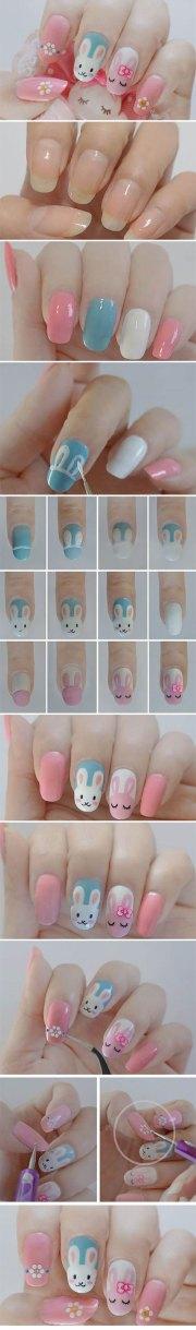 step easter nail art