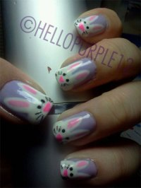20 Easter Bunny Nail Art Designs, Ideas, Trends & Stickers ...