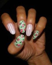 easy spring nail art design